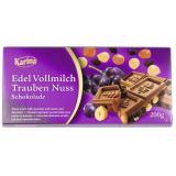Karina Edel Vollmilch Schokolade Trauben Nuss