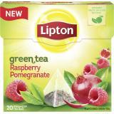 Lipton Green Tea Raspberry Pomegranate Pyramidenbeutel
