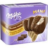 Milka Mini Stieleis Schokolade Vanille