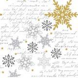 Duni Snowflakes White Dunilin-Servietten 40x40cm