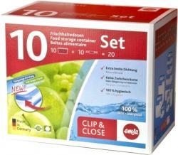 Emsa Clip & Close Frischhaltedosen 10-teilig  - 4009049350295