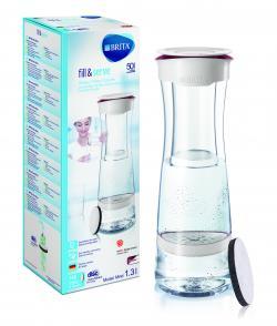 Brita fill&serve Mind Wasserfilter-Karaffe 1,3 l White/Berry  - 4006387052980