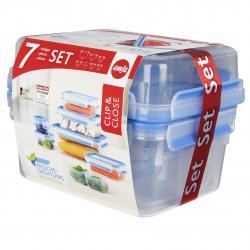 Emsa Clip & Close Frischhaltedose 7er-Set  - 4009049402840