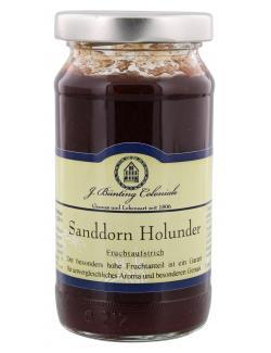 J. Bünting Coloniale Fruchtaufstrich Sanddorn Holunder  (225 g) - 4017700982204