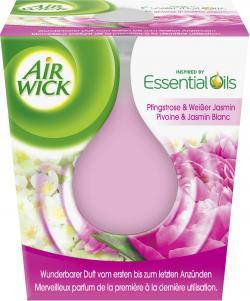 Air Wick Essential Oils Duftkerze Pfingstrose & Weißer Jasmin  (105 g) - 4002448094876