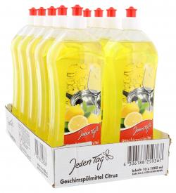 Jeden Tag Geschirrspülmittel mit Citrusduft  (10 x 1 l) - 4306188259367