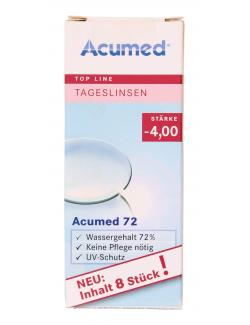 Acumed 72 Tageslinsen Stärke -4,00  (8 St.) - 4040369404015