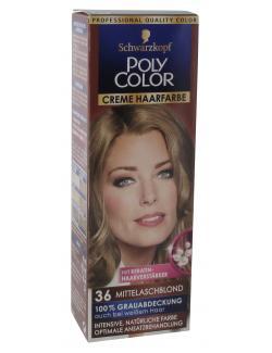 Schwarzkopf Poly Color Creme-Haarfarbe 36 mittelaschblond  (82,50 ml) - 4015000211369