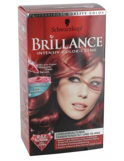 Schwarzkopf Brillance Intensiv-Color-Creme 842 rot  (122,50 ml) - 4015000503556
