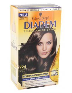 Schwarzkopf Diadem Seiden-Color-Creme 724 dunkelbraun  (142 ml) - 4015000217248