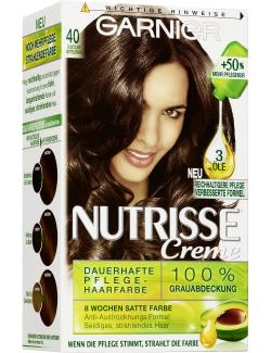 Garnier Nutrisse Creme Intensiv Coloration 40 chocolate  - 3600540244901