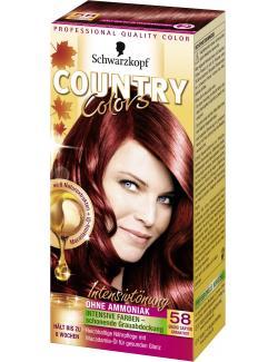 Schwarzkopf Country Colors Intensivtönung 58 grand canyon granatrot  (113 ml) - 4015000523622