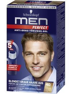 Schwarzkopf Men Perfect Anti-Grau Tönungs-Gel 40 natur dunkelblond  (80 ml) - 4015000529136