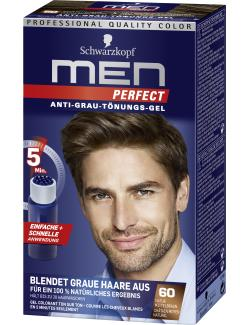 Schwarzkopf Men Perfect Anti-Grau Tönungs-Gel 60 natur mittelbraun  (80 ml) - 4015000529150