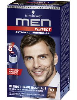 Schwarzkopf Men Perfect Anti-Grau Tönungs-Gel 70 natur dunkelbraun  (80 ml) - 4015000529167