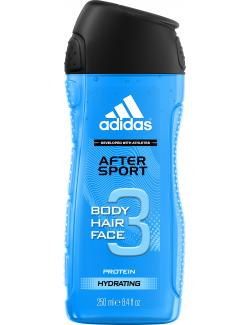 Adidas After Sport 3in1 Shower Gel + Shampoo + Face Wash  (250 ml) - 3412247020012