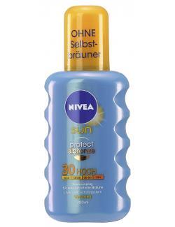 Nivea Sun Protect & Bronze Sonnenspray LSF 30  (200 ml) - 4005808650033