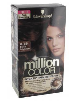 Schwarzkopf Million Color Intensiv-Pigment-Farbe 3-65 dunkle Schokolade  (126 ml) - 4015000996792