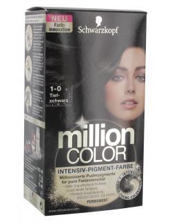 Schwarzkopf Million Color Intensiv-Pigment-Farbe 1-0 tiefschwarz  (126 ml) - 4015000996808