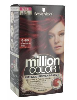 Schwarzkopf Million Color Intensiv-Pigment-Farbe 6-88 cashmere Rot  (126 ml) - 4015000996785