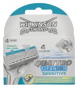 Wilkinson Sword Quattro Klingen Titanium sensitive  (4 St.) - 4027800509805