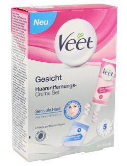 Veet Gesicht Haarentfernungs-Creme Set  (2 x 50 ml) - 4002448070221