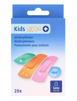 Sana first aid Kids Neon Kinderpflaster  (20 St.) - 8712175931653