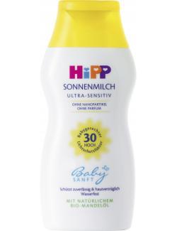 Hipp Babysanft Sonnenmilch ultra-sensitive LSF 30  (200 ml) - 4062300184435