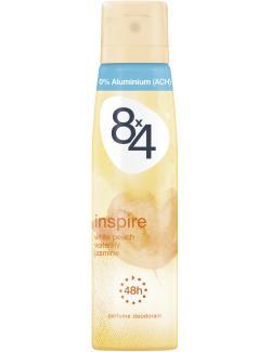 8x4 White Peach Waterlily Jasmine Deo Spray  (150 ml) - 4005900076328