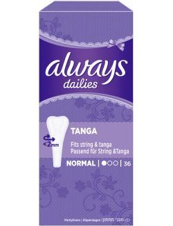 Always Twist & Flex Tanga Slipeinlagen  (36 St.) - 4015400094517