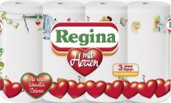 Regina Küchenrollen mit Herzen  (4 x 45 Blatt) - 8004260423618