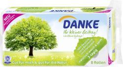 Danke Toilettenpapier 3-lagig  (8 x 150 St.) - 7322540033403