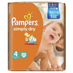 Pampers Simply Dry Gr. 4 Maxi 7-18kg  (37 St.) - 4015400549741