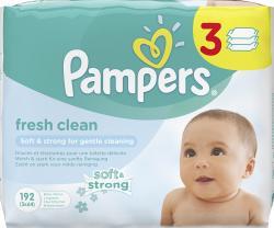 Pampers Fresh Clean Feuchttücher  (3 x 64 St.) - 4015400583141