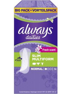 Always Slim Multiform Fresh scent Slipeinlagen normal  (74 St.) - 4015400562870