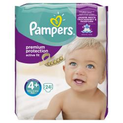 Pampers Premium Protection Active Fit Gr. 4+ Maxi 9-18kg  (24 St.) - 4015400618928