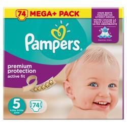 Pampers Premium Protection Active Fit Gr. 5 Junior 11-23kg  (74 St.) - 4015400622543