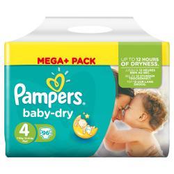 Pampers Baby Dry Größe 4 Maxi 7-18kg  (96 St.) - 4015400833857