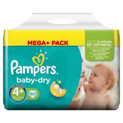 Pampers Baby Dry Gr. 4+ Maxi plus 9-20kg  (92 St.) - 4015400834144