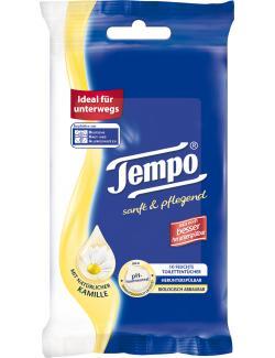 Tempo Feuchte Toilettentücher sanft & pflegend mit Kamille  (10 St.) - 7322540444995