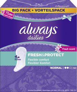 Always Freshness Slipeinlagen normal  (50 St.) - 4015400669067