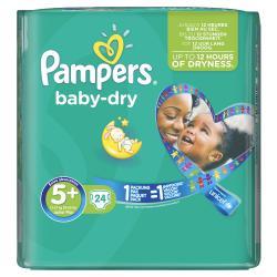 Pampers Baby Dry Gr. 5+ Junior 13-27kg  (24 St.) - 4015400696247