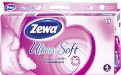 Zewa Ultra Soft Toilettenpapier 4-lagig  (8 x 150 Blatt) - 7322540739442