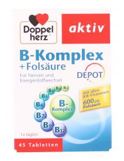 Doppelherz aktiv B-Komplex + Folsäure Depot Tabletten  (45 St.) - 4009932004656