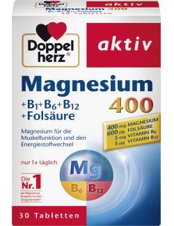 Doppelherz aktiv Magnesium 400 + B1 + B6 + B12 + Folsäure Tabletten  (30 St.) - 4009932004731