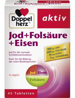 Doppelherz aktiv Jod + Folsäure + Eisen Tabletten  (45 St.) - 4009932005523