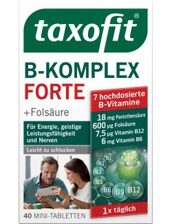 Taxofit Vitamin B-Komplex + Folsäure + C Tabletten hoch dosiert  (40 St.) - 4008617030522