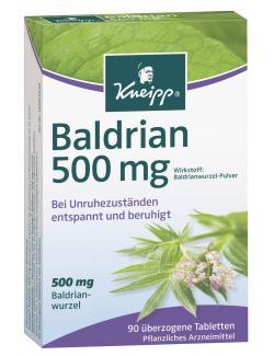Kneipp Baldrian 500mg Tabletten  (90 St.) - 4008233043456