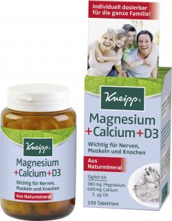 Kneipp Magnesium + Calcium + D3 Tabletten  (150 St.) - 4008233042404