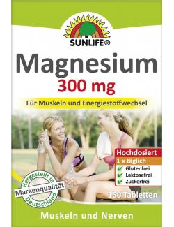 Sunlife Magnesium 300mg Tabletten  (150 St.) - 4022679108852